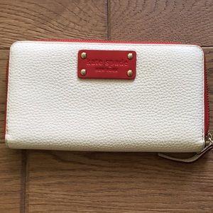 Kate Spade zip around leather wallet